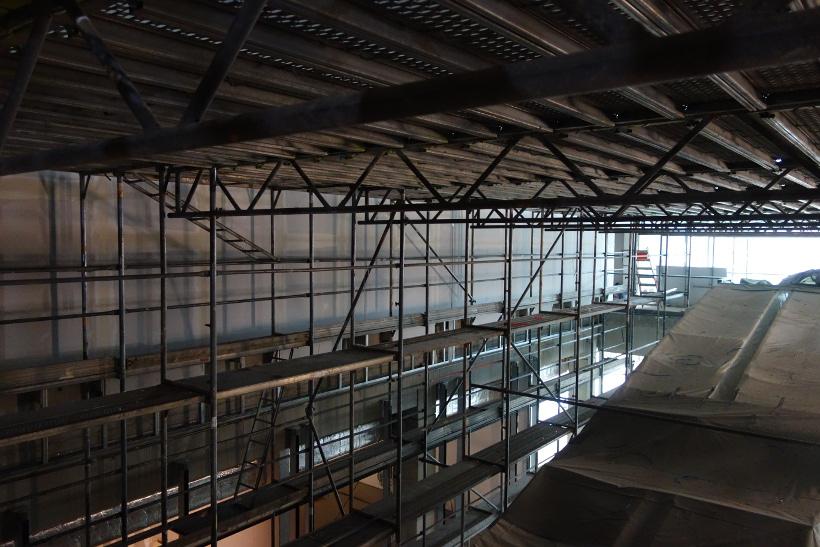 Raumgerüst Neubau Nahversorgungszentrum | Straßburger Platz in Dresden