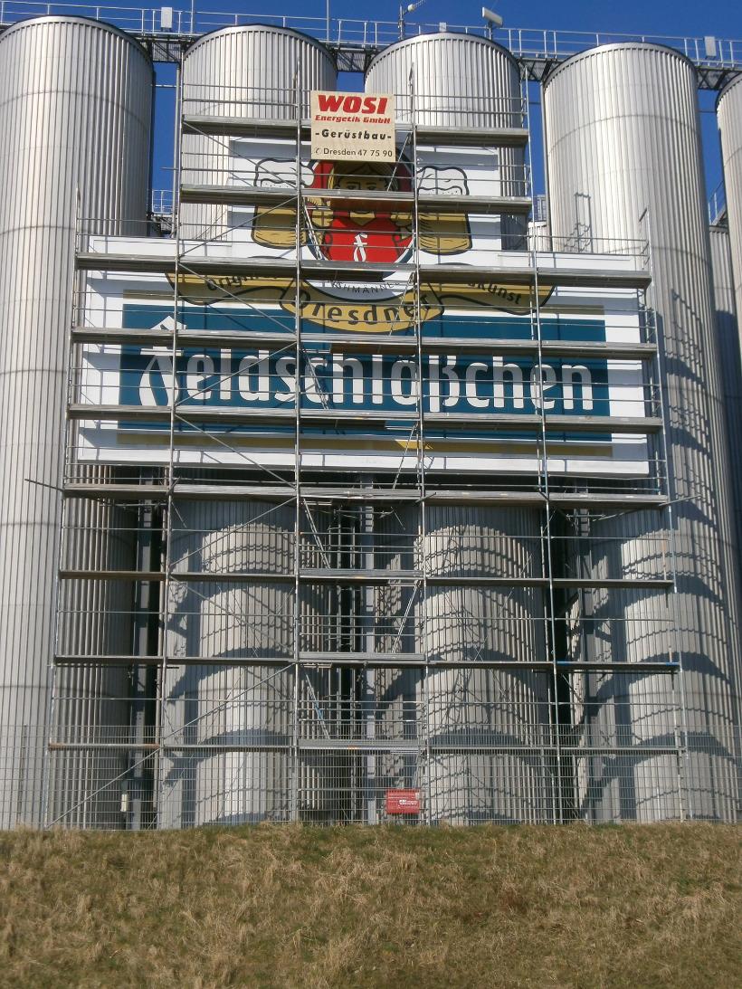 Fassadengerüst als Sonderkonstruktion | Gärtürme der Feldschlösschenbrauerei