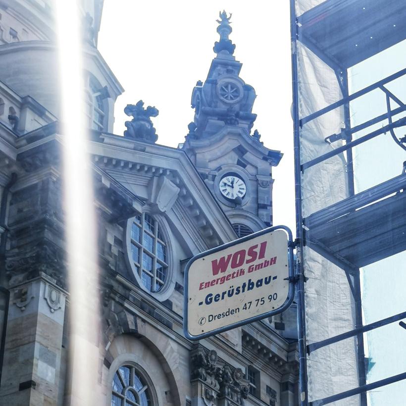 Fassadengerüst am Neumarkt in Dresden